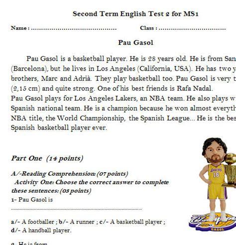 reading comprehension quiz simple present   esl