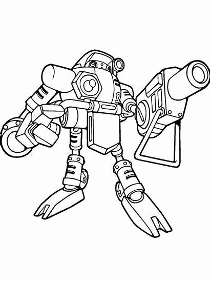 Robots Ninja Robot Coloring Pages Colouring Gamma