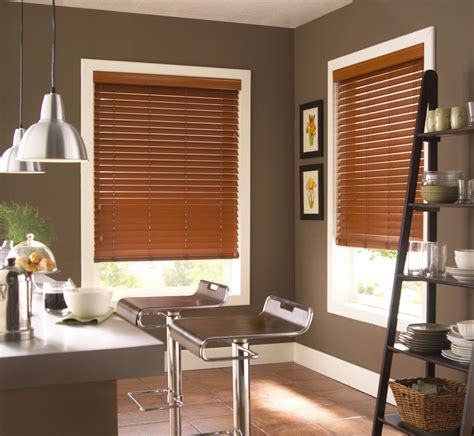 Kitchen Horizontal Blinds by Faux Wood Horizontal Blinds Contemporary Kitchen