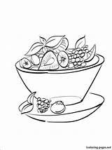Salad Coloring Fruit Drawing Pages Printable Drawings Sketch Line Template Getdrawings Getcolorings sketch template