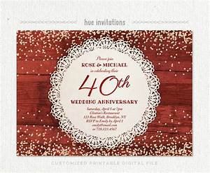 1000 ideas about anniversary party invitations on With free printable 40th wedding anniversary invitations