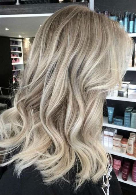 ash blonde balayage  silver ombre hair color ideas