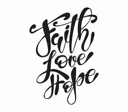Faith Hope Easter Quote Calligraphy Lettering Hand
