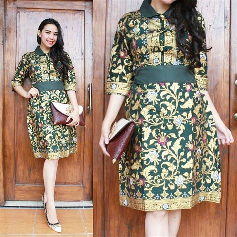 model baju batik dress pesta model baju dress