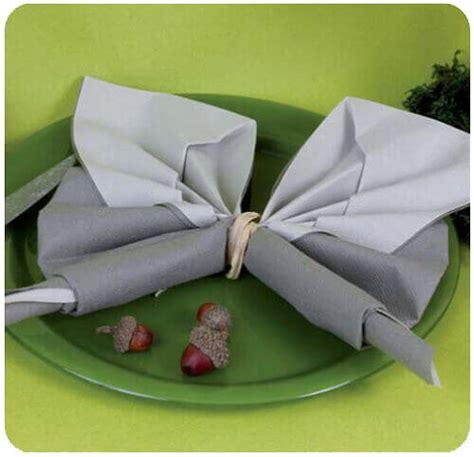 notice de montage du pliage de serviette papillon