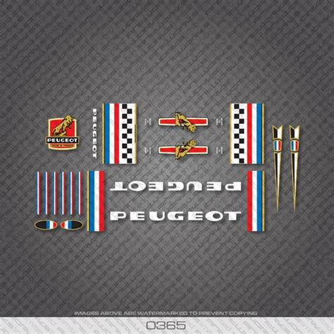 Peugeot Bike Decals by Bicycle Stickers And Decals