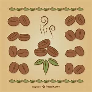 Coffee beans drawings Vector | Free Download