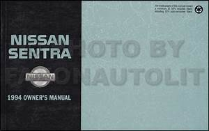 1994 Nissan Sentra Repair Shop Manual Original