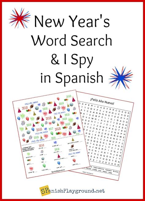 spanish  year word search   spy spanish playground