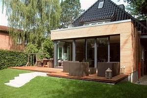 anbau an ein einfamilienhaus in hamburg harms und koster With garten planen mit kosten anbau balkon