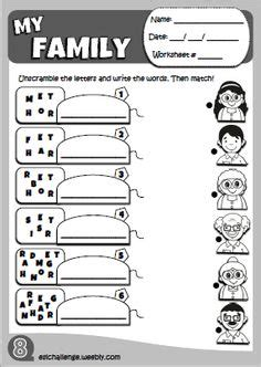 family preschool worksheet family worksheet