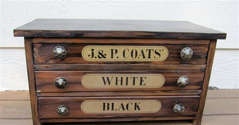 antique spool cabinet labels the lazy peacock spool cabinet