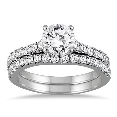 2 50ct solitaire engagement ring matching band 14k white gold bridal ebay