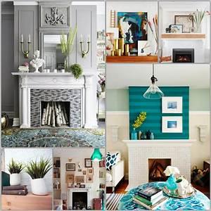 Dekoration Für Wohnzimmer : 45 kamin deko ideen so k nnen sie den kaminsims kreativ dekorieren ~ Udekor.club Haus und Dekorationen