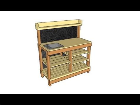 potting bench  sink plans youtube