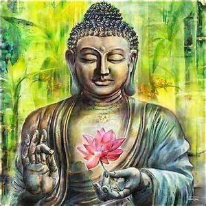 Buddha Sprüche Bilder : michael tarin a buddha in peace keilrahmen bild leinwand friede zen feng shui ebay ~ Orissabook.com Haus und Dekorationen
