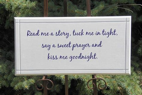 Blessings Home Decor: Kiss Me Goodnight Children's Blessing Prayer By