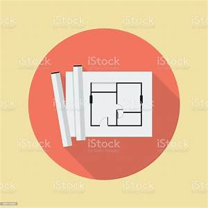 Architectural, Blueprint, Flat, Icon, Stock, Illustration, -, Download, Image, Now