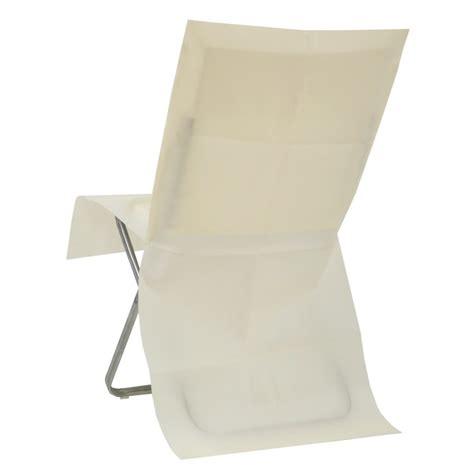 housse de chaise ivoire intiss 233 opaque les 4 housses de chaises