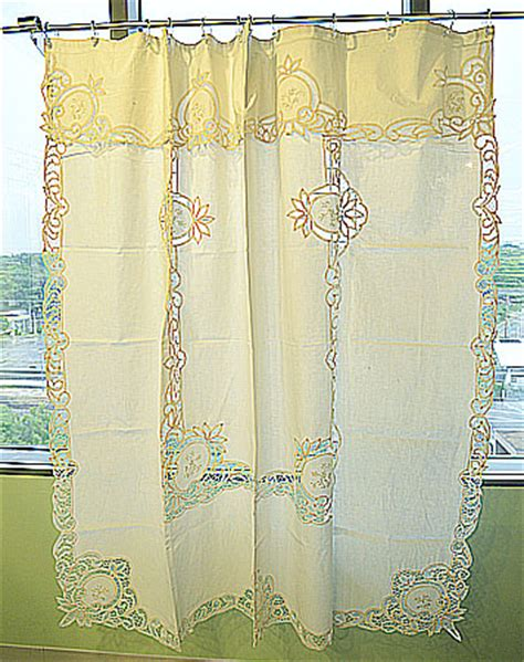 Battenburg Lace Curtains Ecru by Battenburg Lace Shower Curtains Ecru Color Piineapple