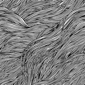 Vector seamless black and white abstract hand-drawn ...