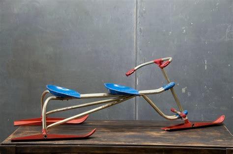 Vintage Tandem Childs Tri-ski Sled