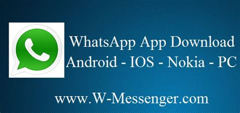 whatsapp app for android ios nokia