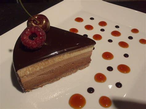 cours de cuisine avec michalak entremets aux trois chocolats recette cakesandsweets fr