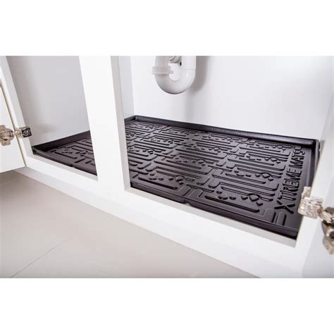 Kitchen Cupboard Liners by Black Kitchen Depth Sink Cabinet Mat Drip Tray Shelf