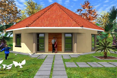 2 floor plans with garage free rondavel house plans home deco plans