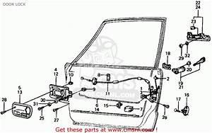 Honda Civic Sedan 1975 3dr1500  Ka Kl  Door Lock