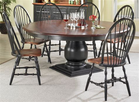 black round pedestal dining table round pedestal dining room table black paint kate