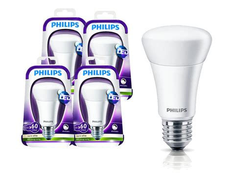 4 pack philips e27 dimmable led bulbs 806 lumen 39 s best offer daily ibood