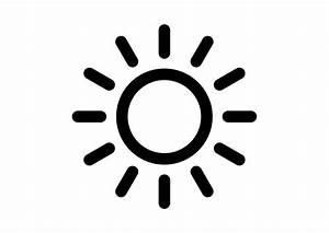 Black Simple Sun Icon