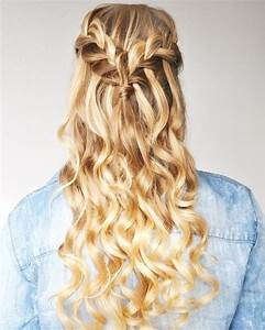 15 Elegant Waterfall Braid Styles