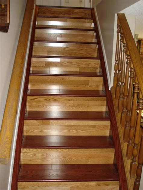 toned hardwood stairs hardwood floors pinterest