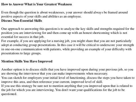 What Are Your Three Greatest Weaknesses by What Is Your Greatest Weakness Question Answer