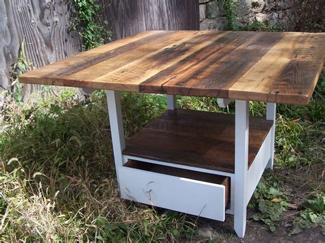 kitchen table with storage base buy a handmade reclaimed wood kitchen table with storage