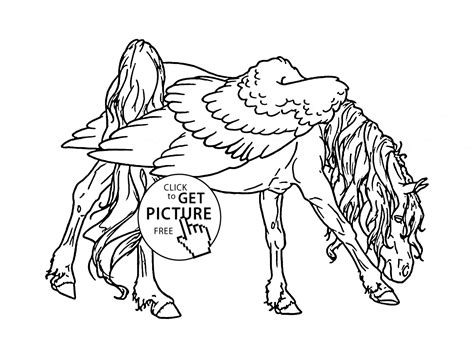 Realistic Pegasus Coloring Pages Wwwimgkidcom The