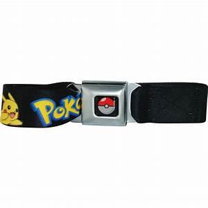 belt pokemon name pikachu black seat mesh
