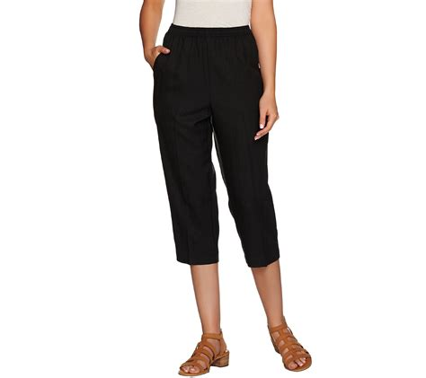 """""""As Is"""" Denim & Co. Pull-on Capri Pants with Pockets — QVC.com"""