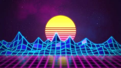 synthwave neon  background rafael de jongh web