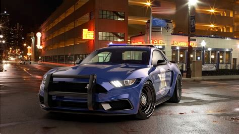 2017 Ford Mustang Notchback Design Police Wallpaper Hd