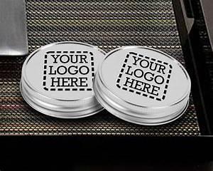 Custom printed mason jar lids as low as 065 for Custom mason jar lids