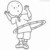 Hula Caillou Xcolorings sketch template