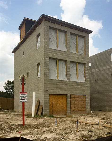cinder block house the new concrete block homes on a fifth ward block by the