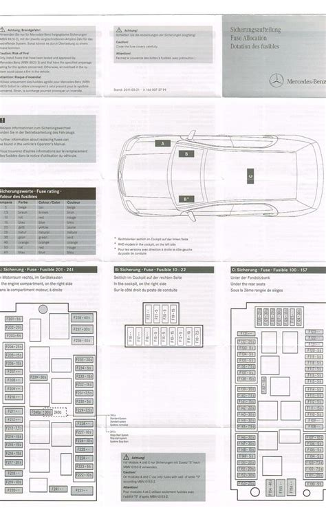 2007 Mercede Ml350 Fuse Diagram by Gl450 Fuse Chart Mbworld Org Forums