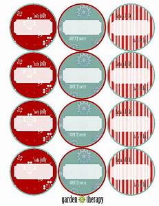 last minute holiday gifts and printable gift tags garden With christmas canning labels