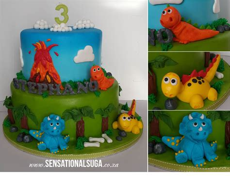 3d dinosaur cake with volcano for 3 year old sensational