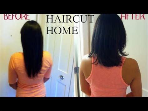 cut hair  home easily superprincessjo youtube